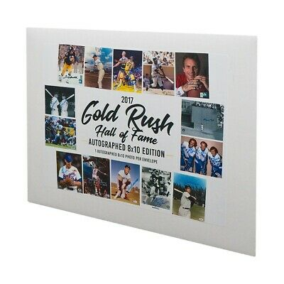 2017 Gold Rush Hall of Fame Multi-Sport Autographed 8x10 Envelope Pack