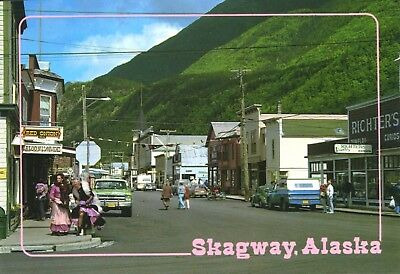 Skagway Alaska AK Red Onion Richters Jewelry Street Scene Unused Postcard D10a