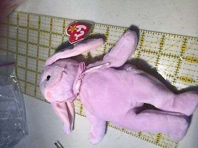 MINT Floppity Purple Rabbit Ty Beanie Babies Baby ST 5th TT 6th PE China