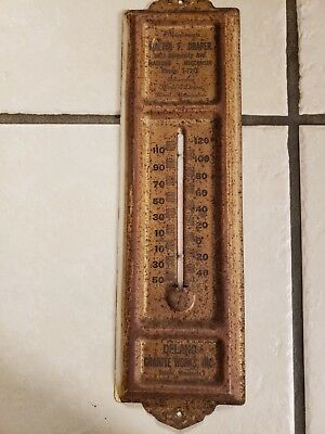 Antique Funeral Home Thermometer