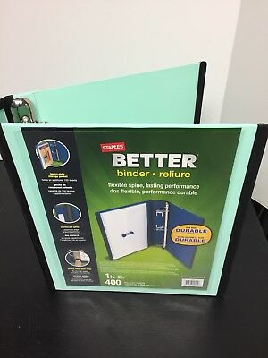 staples 1 1 2 inch better view binders with d rings green supplies