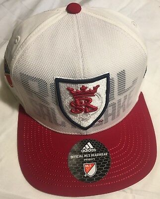 d5de0b3c802 RARE Real Salt Lake Snapback Hat ADULT One Size NEW Adidas MLS Soccer Club