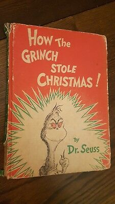 Dr Suess How the Grinch Stole Christmas book Vintage 1957