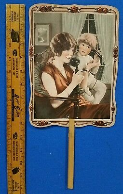 """1920's Allentown, PA adv. fan - """"New Pergola"""" Theater and other adv. on backside"""
