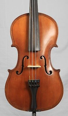 Nice Old Antique 4/4 Violin Ornate Double Purfling  Possibly American