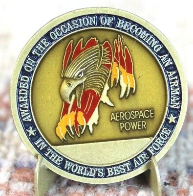 """U.S. Air Force """"On The Occassion of You Becoming An Airman"""" Challenge Coin Rare"""