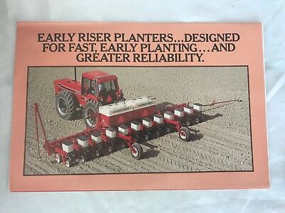 Vintage International Harvester IH  Red Power 6388 2+2 Early Riser 5x7 Promo