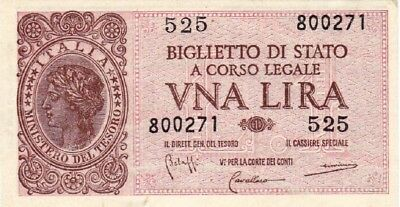 Currency Selection, Italy State 1 Lire
