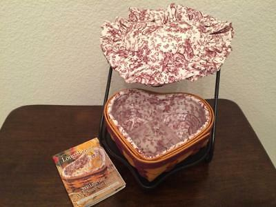 Longaberger Wrought Iron Stand & Little Love Basket and Heart pillow Valentines