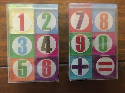 Mosaic Glass Number Tiles X 2 Boxes