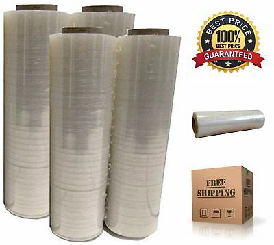"""4x Plastic Shrink Stretch Clear Wrap Packing Film Pallet Rolls 18"""" x 1500'"""