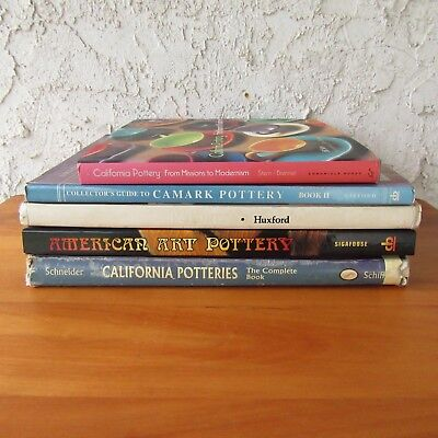 American Art Pottery Guide Book Identification Value Lot of 5 Roseville Camark
