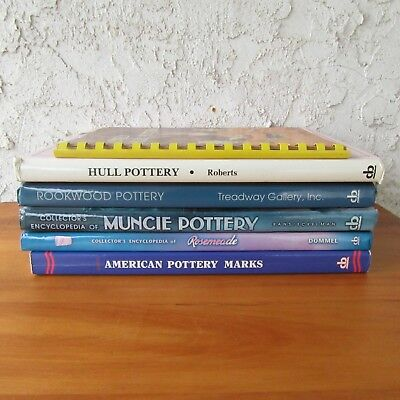 American Art Pottery Guide Book Identification Lot of 6 Muncie Hull Rookwood ++