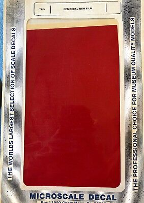 """All Scale Trim Film - Red - Microscale #TF-5 (Size: approx. 4 1/2"""" x 7 1/2"""")"""