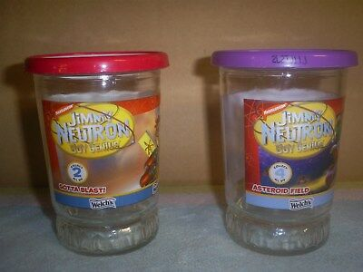 "2-Welch's 2002 Jimmy Neutron ""Gotta Blast"" & ""Asteroid Field""  Welch's Jelly Jar"