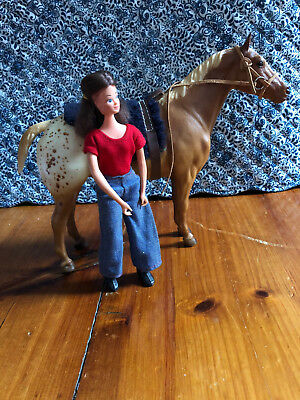 Breyer Horse Set: Appaloosa Stock Horse, Brenda, Saddle, Bridle