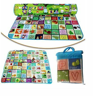 2 Sided Kids Play Mat Carpet Educational Game Crawling Baby Soft Foam Play Mat