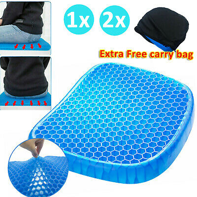Gel Honeycomb Cushion Flex Back Support Spine Protector AU Stock