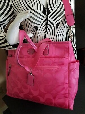 COACH BABY TOTE (aka DIAPER BAG) Signature Sophisticated Elegant Baby Tote NEW