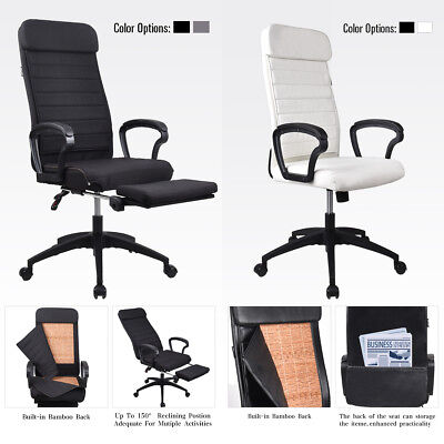 Office Gaming Racing Chair Swivel Computer Desk Task Seat Adjustable Footrest