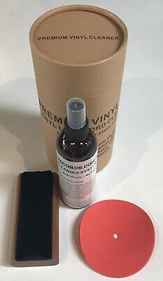 250ml Anti static Spray Vinyl LP Record Cleaner Cleaning Fluid +BRUSH +protector