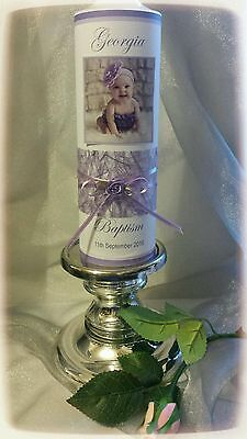 Personalised Christening, Baptism, Naming Day Candle