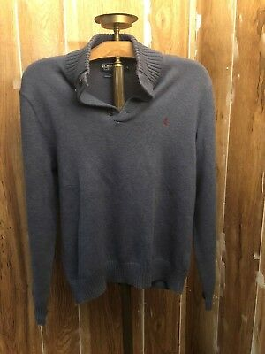 blue POLO BY RALPH LAUREN pull over sweater size medium