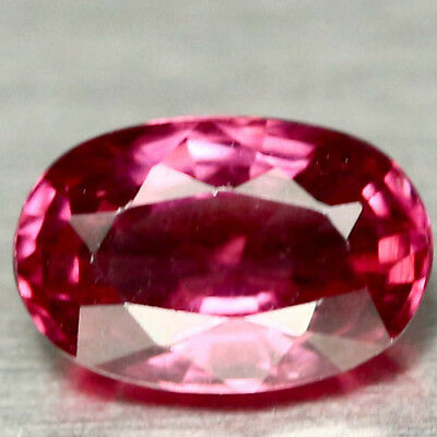 0.92 CT AAA! NATURAL! REDDISH PINK AFRICA RHODOLITE GARNET OVAL 4 X 7 mm.
