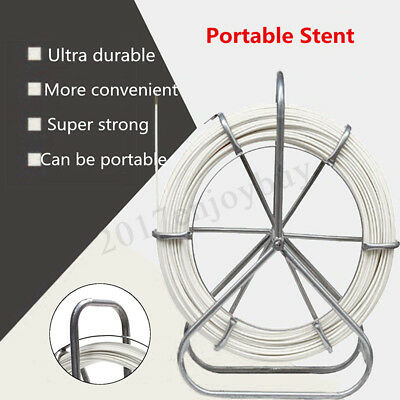 6mmx200m Fish Tape Electric Reel Wire Cable Rod Duct Puller Running Rodder Pull