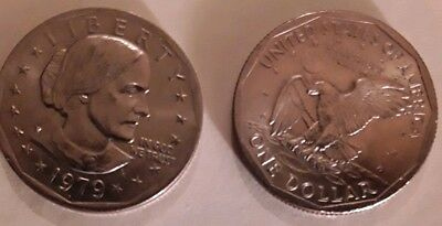 A Pair (2) of 1979 Susan B Anthony Dollars