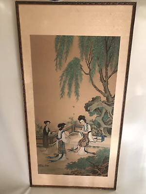 19/20 Century Chinese Painting with Court Ladies