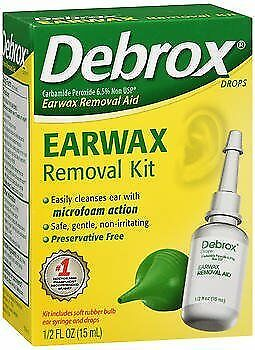Debrox Earwax Removal Aid Kit - 0.5 oz, Pack of 3