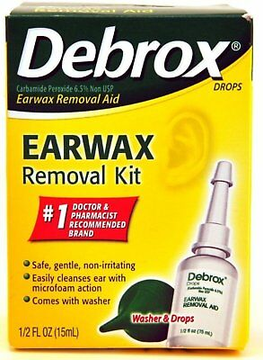 Debrox Earwax Removal Aid Kit 0.5 oz (Pack of 9)