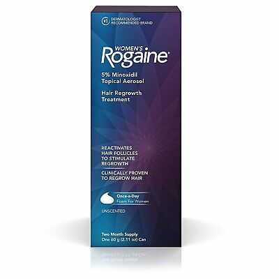 Women's Rogaine 5% Minoxidil Foam for Hair Thinning and Loss, Topical...