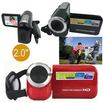 Children's Mini DV Camcorder 2.0″ TFT LCD 16MP 4X Digital Zoom Kids Camera Red