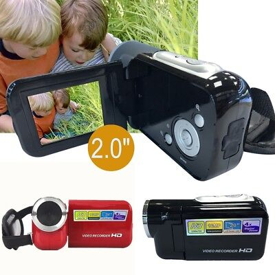 Children's Mini DV Camcorder 2.0″ TFT LCD 16MP 4X Digital Zoom Kids Camera Black