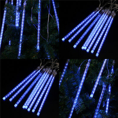 13.1ft 144 LEDs Meteor Shower Rain Rain 8 Tube String Light Christmas Xmas Decor