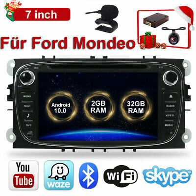 "Android8.1 7"" GPS Navi Autoradio Bluetooth For Ford Mondeo Focus II Galaxy S-Max"