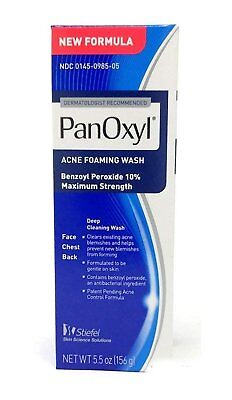 PanOxyl Acne Foaming Wash Max Strength 10% Benzoyl Peroxide 5.5 oz