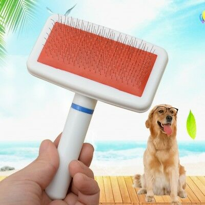 Pet Hair Brush Self Cleaning Dog Puppy Cat Kitten Comb Grooming Pet Fur Care