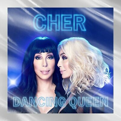 Cher Dancing Queen CD + Lithograph Holographic silver foil original
