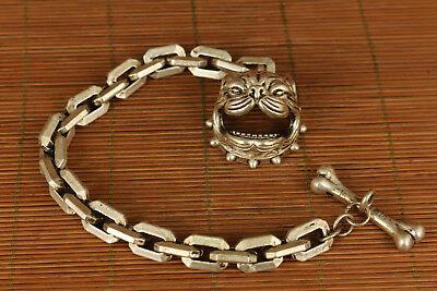 rare fashion miao silver dog bite limited edition bracelet collectable gift
