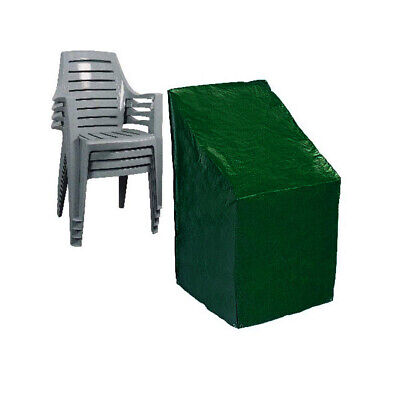 Reinforced Heavy Duty Stacking Chair Cover Waterproof Garden Furniture Protector
