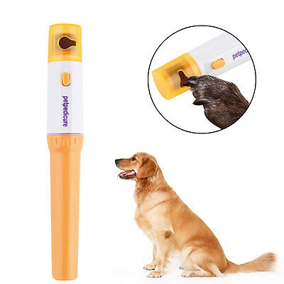 Pet Dog Cat Premium Electric Nail Grinder Paws Grooming Trimmer Dog Clipper Tool