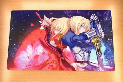 C1311 Saber Altria Nero Fate Stay Night Game Mouse Pad CCG Playmat Yugioh Mat