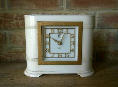 1930s Art Deco Bakelite Smiths Sectric Electric Mantel Clock