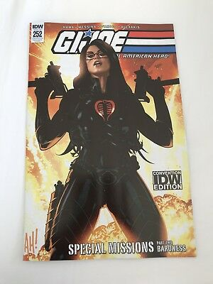 SDCC Comic Con 2018 IDW GI Joe Real American Hero #252 Variant Exclusive LE 500