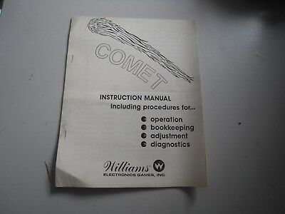 Instruction Manual für Comet Williams Flipper Pinball