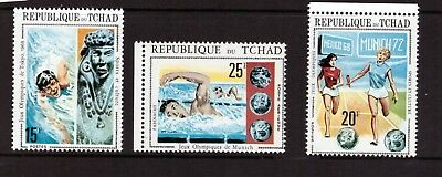 Chad MNH 1971 Olympic Games set mint stamps