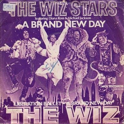 Vinyl Single : Wiz Stars (Diana Ross, Michael Jackson) - A brand new day  C143